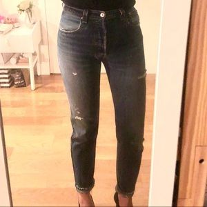 Re/Done Levi's, High Rise Ankle Crop, Sz. 26